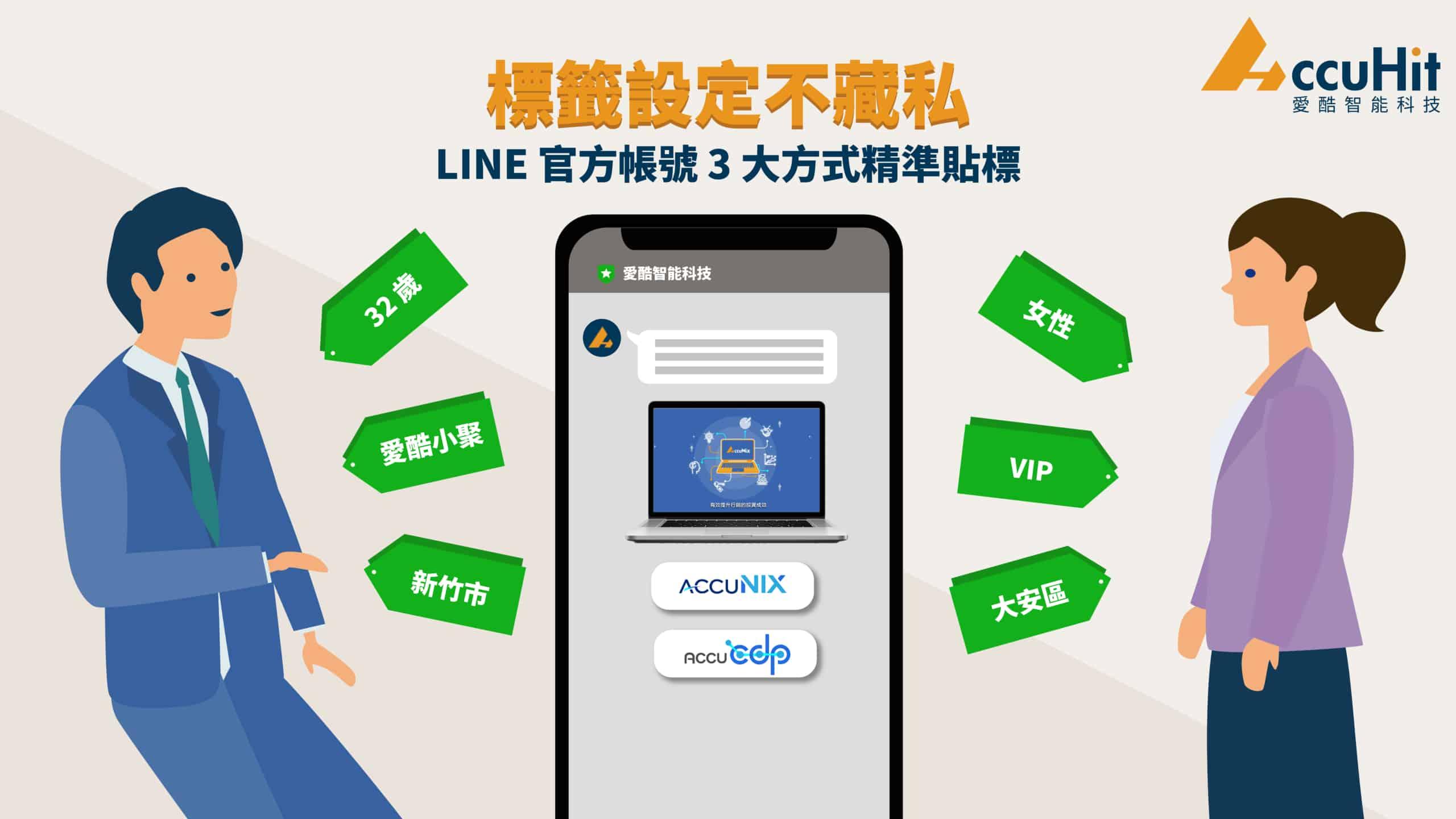 標籤設定不私藏,LINE-官方帳號-3-大方式精準貼標
